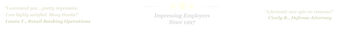 Midland Odessa Resume Service... IMPRESSING EMPLOYERS SINCE 1997!